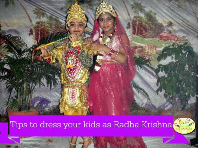 Tips to dress children as radha krishna for Janamashtami
