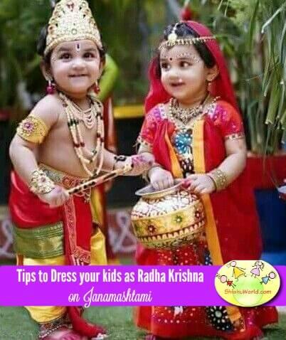Tips to dress kids as radha krishna for Janamashtami