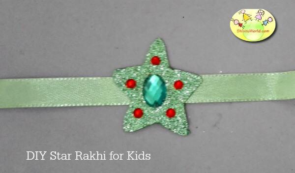 Handmade Star Rakhi/ Recycled rakhi
