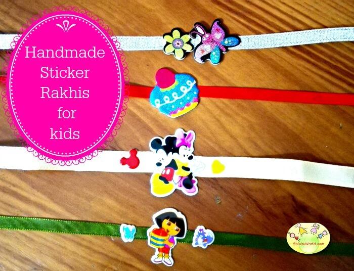 DIY Sticker Rakhi ideas