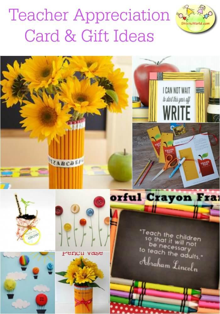 Teacher's day card & gift ideas