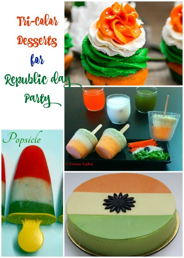 Tricolor desserts for republic day/ independence day party