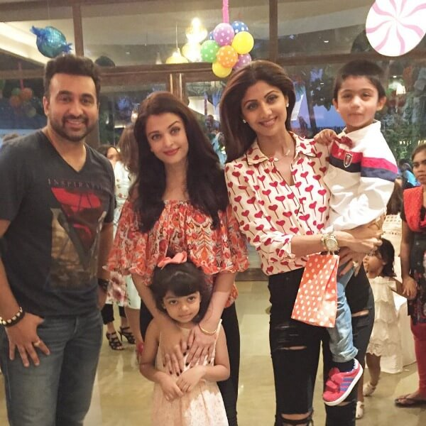 Aishwarya Rai Aradhna Bachchan in Shilpa Shetty son birthday party